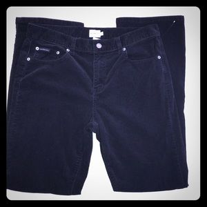 Calvin Klein Black Corduroy Jeans EUC Size 12
